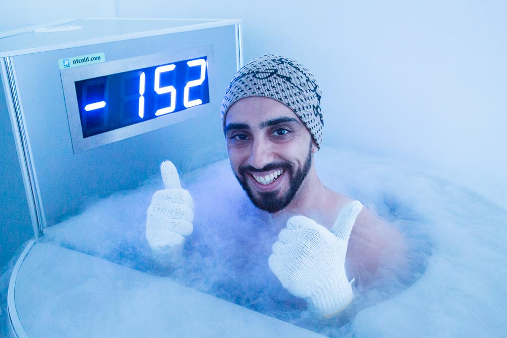 Happy customer of whole body cryotherapy